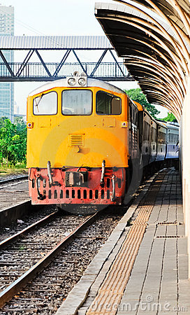 Old diesel electric locomotive