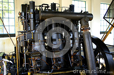 Old diesel engine from 1930