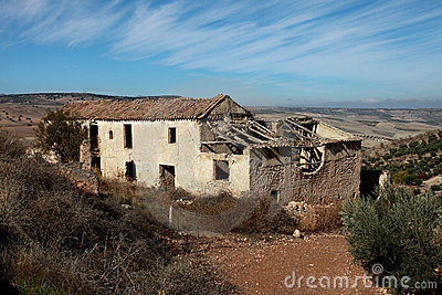 Old dilapidated farmhouse in the mountains of Anda