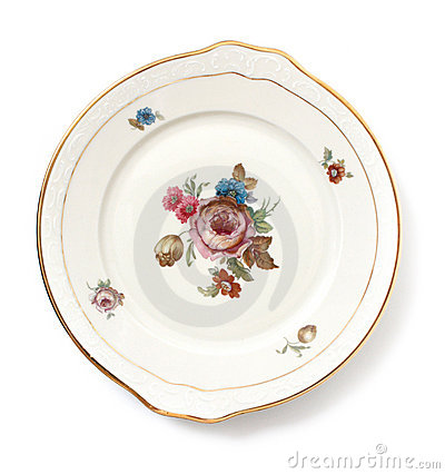 Old dinner plate