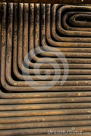 Free Old, Dirty And Rusty Pipes From The Boiler Water Stock Images - 84187784