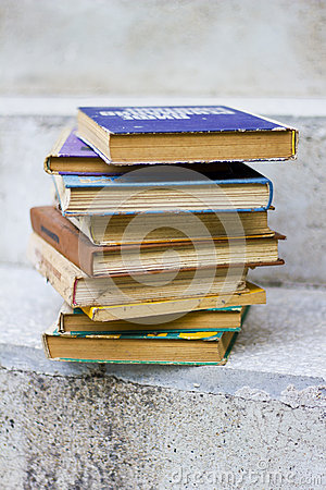 Old dirty books, textbooks