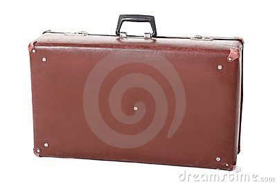 Old dirty dusty suitcase.