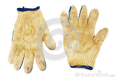 Old dirty gloves