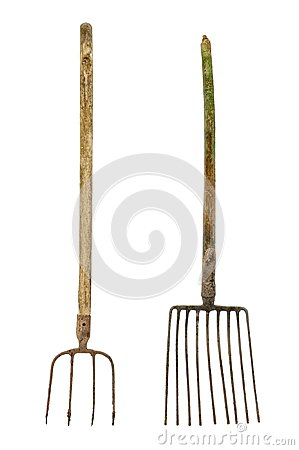 Free Old Dirty Pitchforks Royalty Free Stock Photos - 108307708