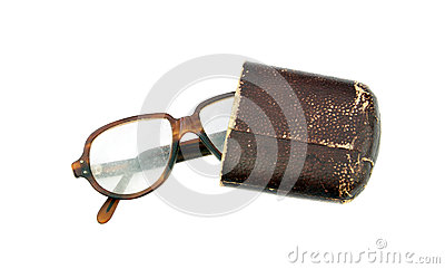 Reading glasses in case
