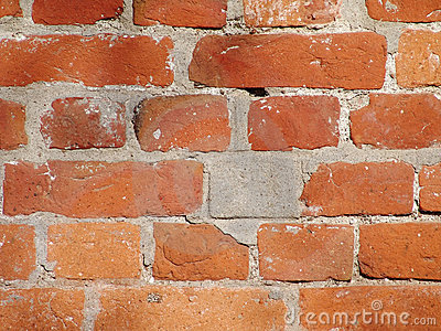 Old and dirty red brick back ground