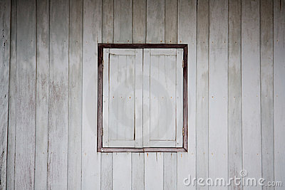 Old dirty white wooden window