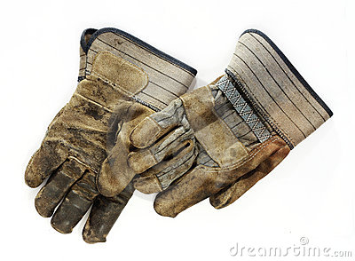 Old Dirty Work Gloves