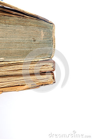 Old discoloured books