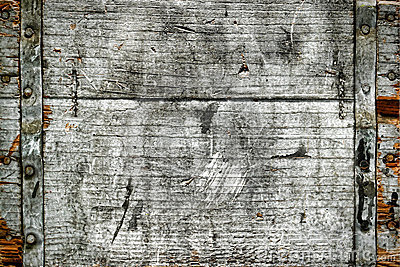 Old Distressed Antique Wood Box Grunge Background