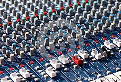 Old Dj sound mixer.
