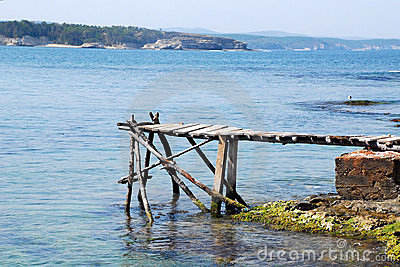 Old dock and sea