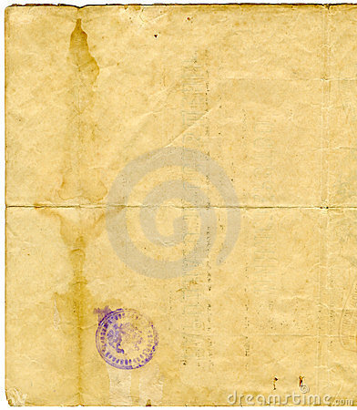 Free Old Document Paper Texture Stock Photography - 3841622
