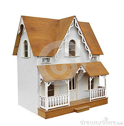 Free Old Doll House Isolated. Stock Photos - 53480423