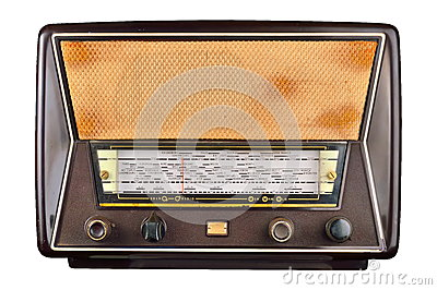 Old domestic wireless radio receiver set