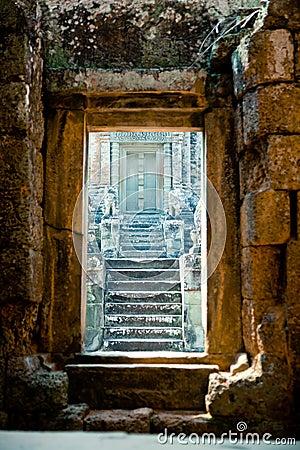 Free Old Door At Angkor Wat, Cambodia Royalty Free Stock Image - 19651236