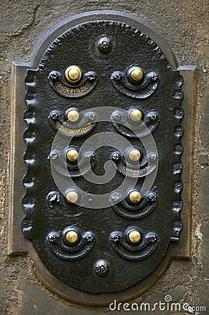 Old door bell in Italy