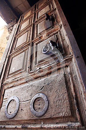 Old door church of the Holy Sepulche