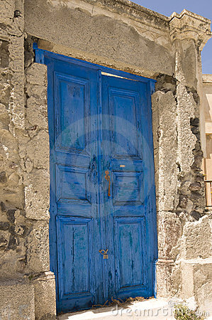 Old door in Greece