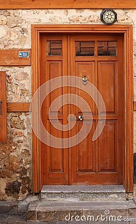 Old door with knocker