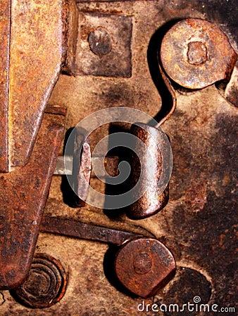 Old door lock - detail