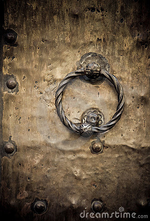 Old door, Rome, Italy