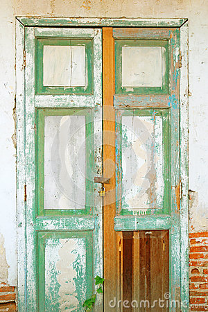 Free Old Door With Brick Wall Stock Photos - 28493133