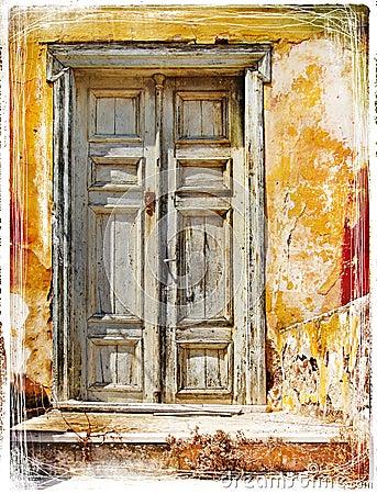Free Old Doors Of Greek Islands Royalty Free Stock Image - 20582376