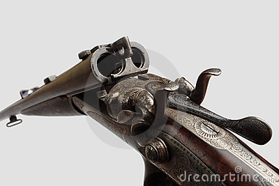 Old double-barrelled gun