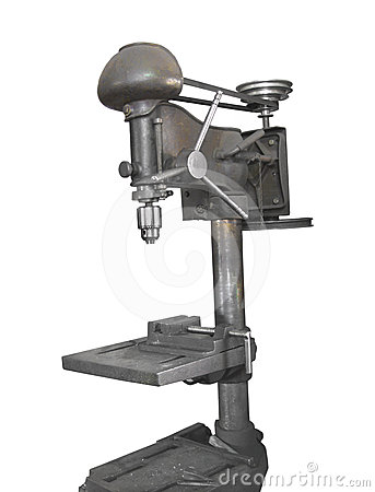 Free Old Drill Press Isolated Royalty Free Stock Photography - 24429057