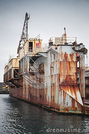 Free Old Dry Dock, Shipyard In Port Of Hafnarfjordur Stock Images - 102538504