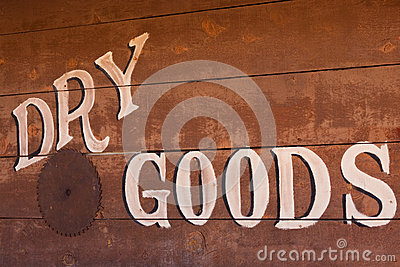 Old Dry Goods Sign