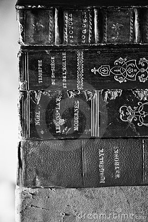 Old Dusty Books Black & White