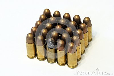 Old dusty browning bullets
