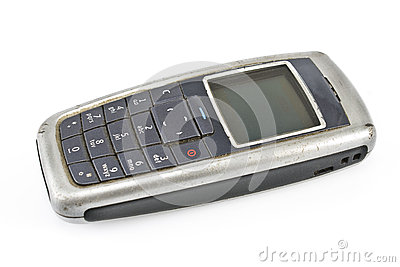 Old dusty mobile  phone