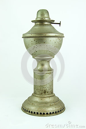 Old dusty oil lamp