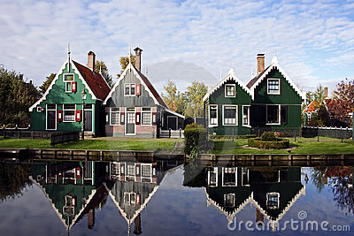 Old dutch houses in Holland