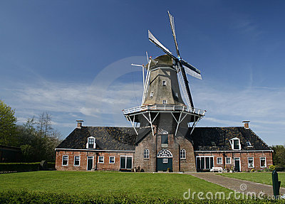 Old Dutch oil and grain mill