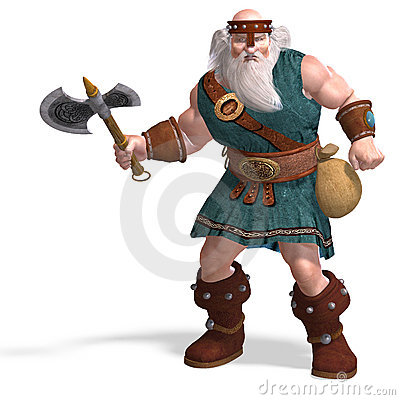 An Old Dwarf With An Axe Stock Photo - Image: 10540730