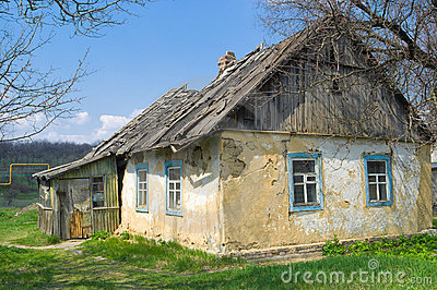 An Old Dying Claystone House Stock Photos - Image: 19326033