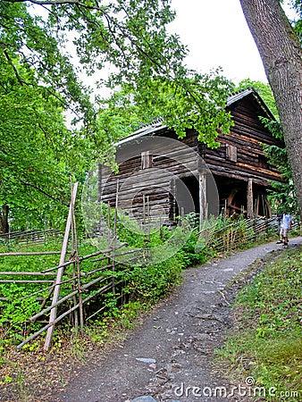 Old ecological cabin in Sweden