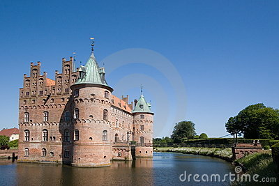 The old Egeskov Castle on Funen