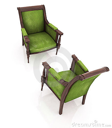 Old elbow-chairs
