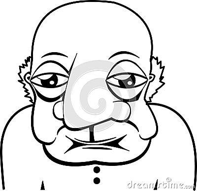 Old Elderly Bald Man