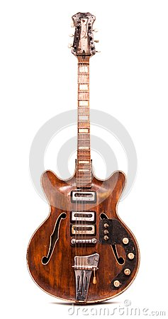 Free Old Electric Guitar Royalty Free Stock Photos - 43899898
