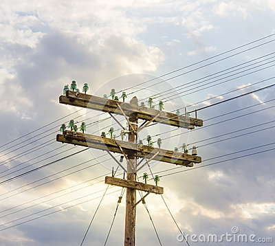 Free Old Electricity Pole Stock Photos - 57134523