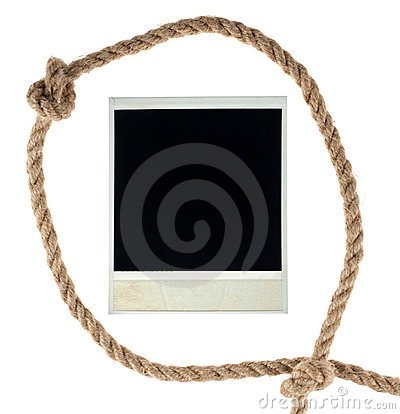 Old empty photo card in a loop