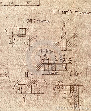 Old engineering blueprint