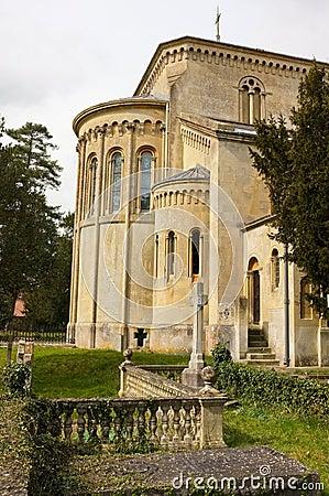 Old English Church and Graveyard